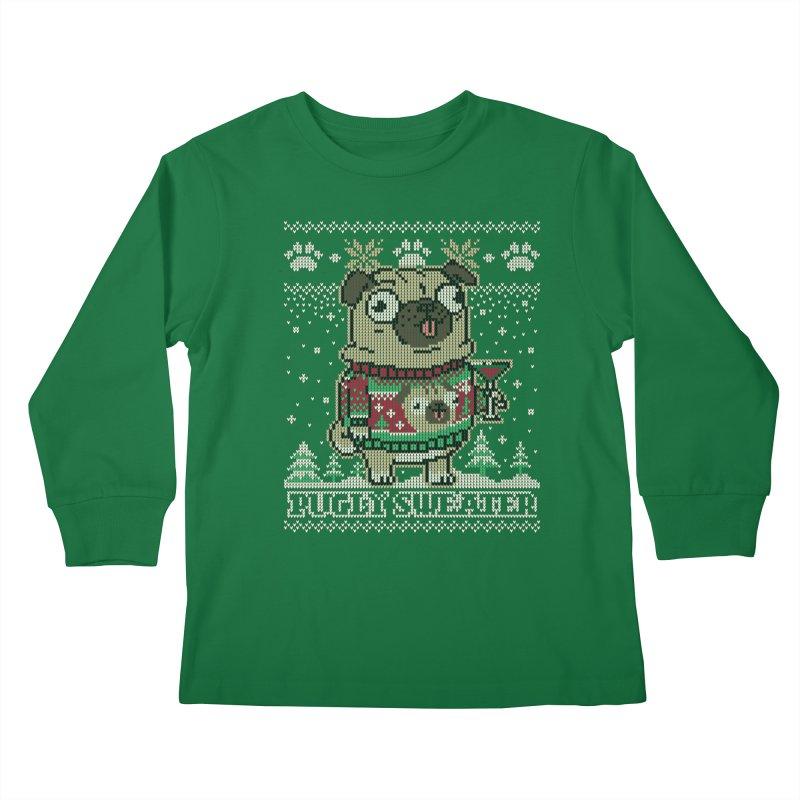 Pugly Sweater Kids Longsleeve T-Shirt by Vó Maria's Artist Shop