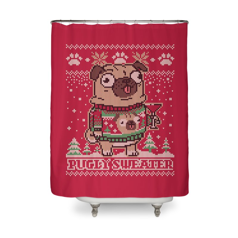 Pugly Sweater Home Shower Curtain by Vó Maria's Artist Shop