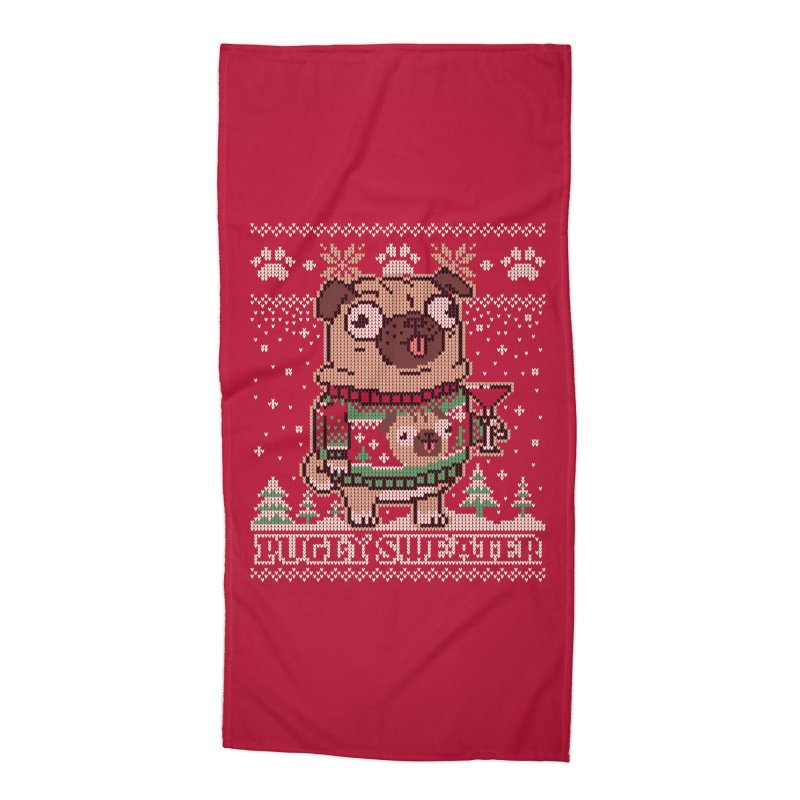 Pugly Sweater Accessories Beach Towel by Vó Maria's Artist Shop