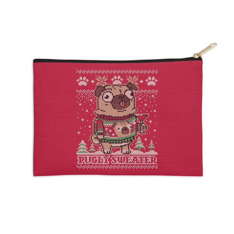 Pugly Sweater Accessories Zip Pouch by Vó Maria's Artist Shop