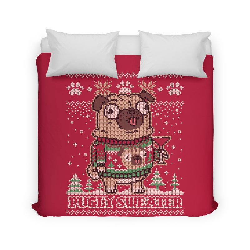 Pugly Sweater Home Duvet by Vó Maria's Artist Shop