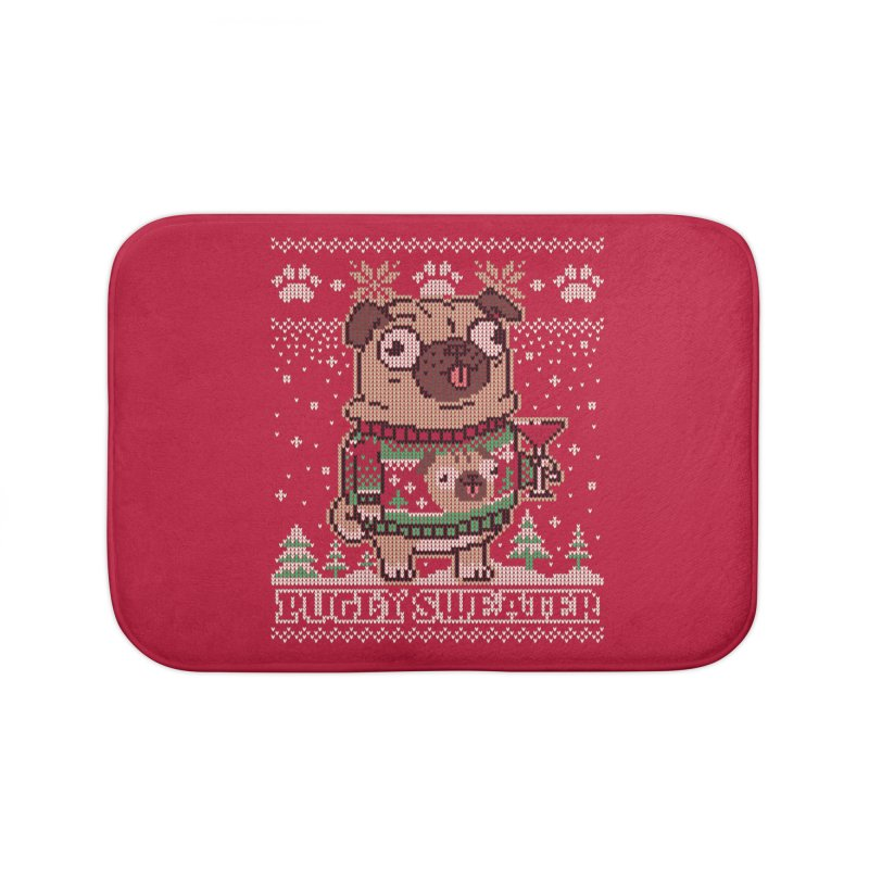 Pugly Sweater Home Bath Mat by Vó Maria's Artist Shop