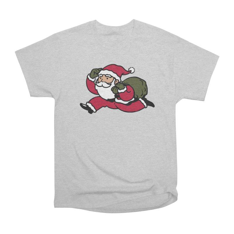 Santa Claus Monopoly Women's Heavyweight Unisex T-Shirt by Vó Maria's Artist Shop