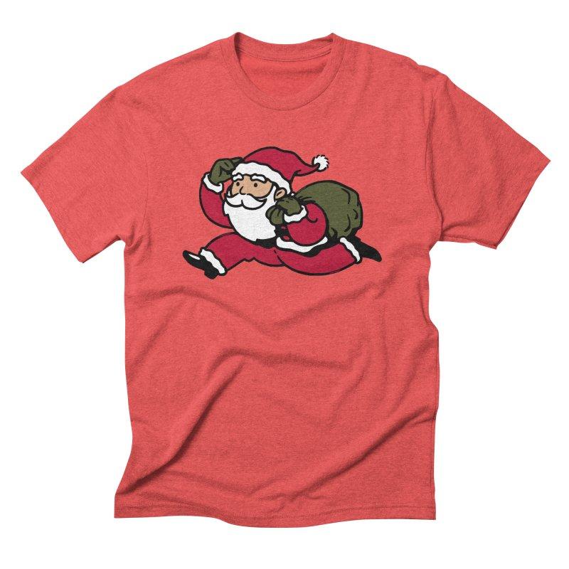 Santa Claus Monopoly Men's Triblend T-Shirt by Vó Maria's Artist Shop