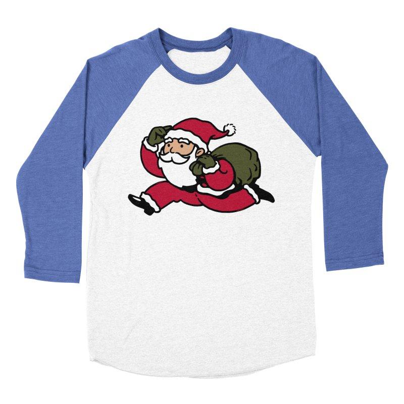 Santa Claus Monopoly Men's Baseball Triblend T-Shirt by Vó Maria's Artist Shop