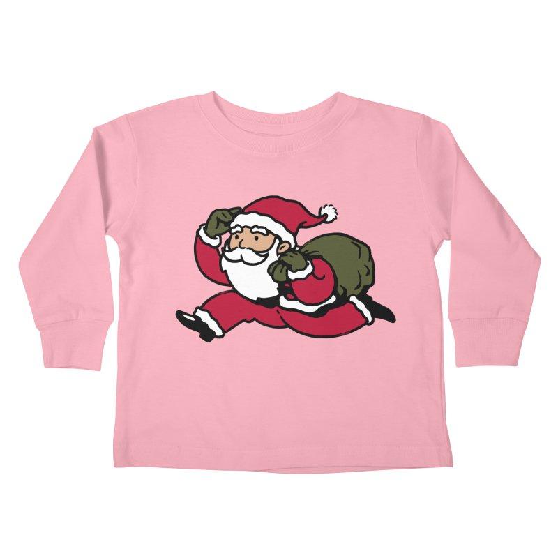 Santa Claus Monopoly Kids Toddler Longsleeve T-Shirt by Vó Maria's Artist Shop