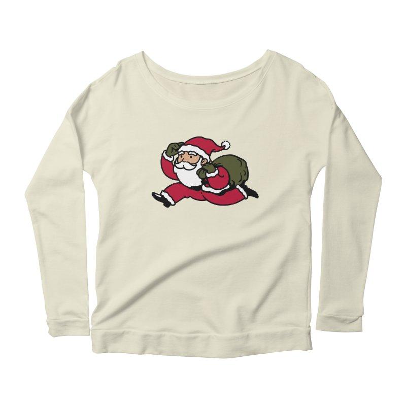 Santa Claus Monopoly Women's Scoop Neck Longsleeve T-Shirt by Vó Maria's Artist Shop