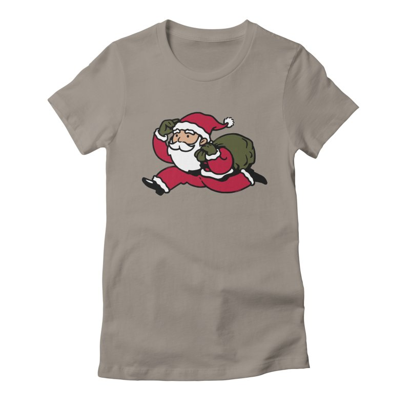 Santa Claus Monopoly Women's Fitted T-Shirt by Vó Maria's Artist Shop
