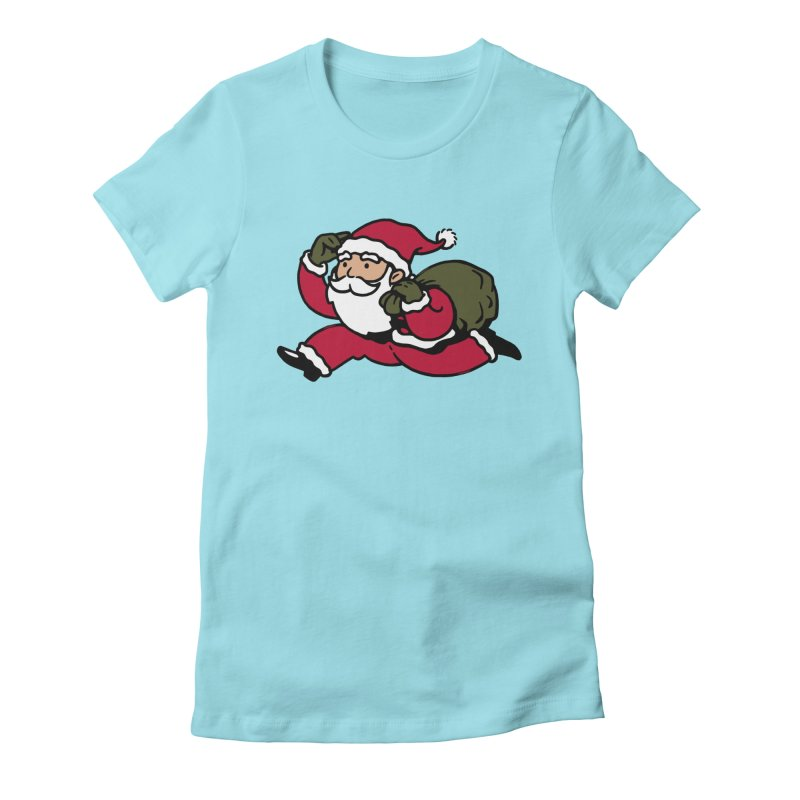 Santa Claus Monopoly Women's Fitted T-Shirt by Vó Maria's Artist Shop