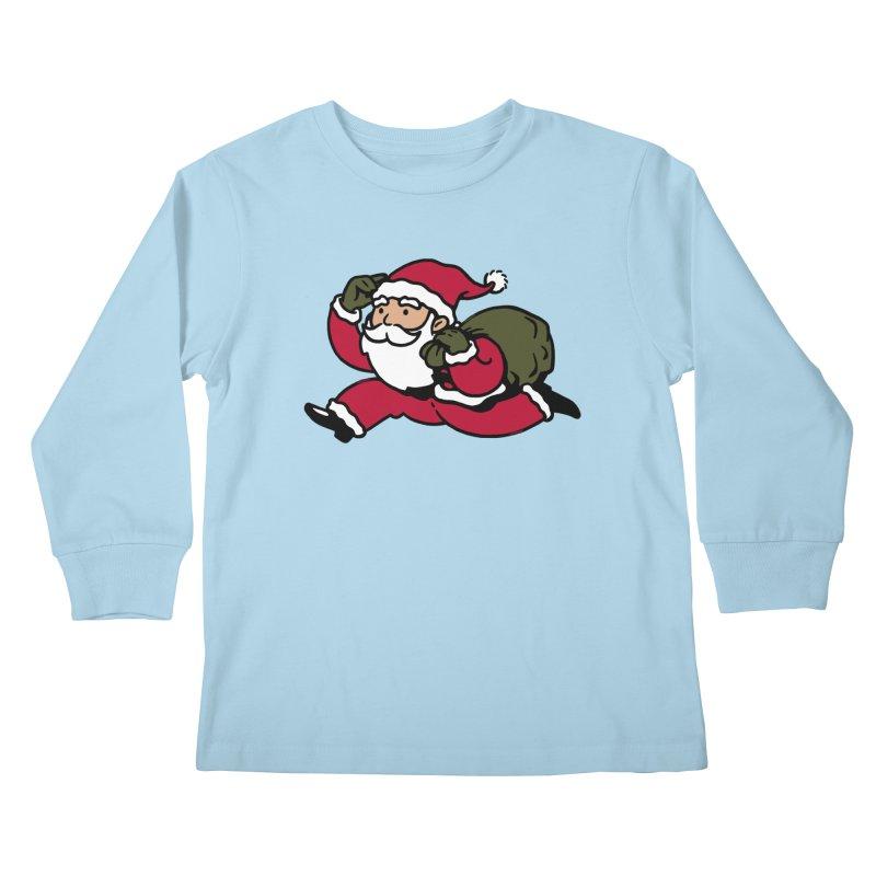 Santa Claus Monopoly Kids Longsleeve T-Shirt by Vó Maria's Artist Shop