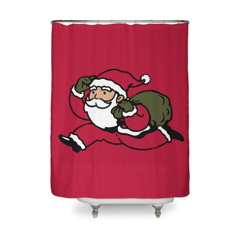 Santa Claus Monopoly Home Shower Curtain by Vó Maria's Artist Shop