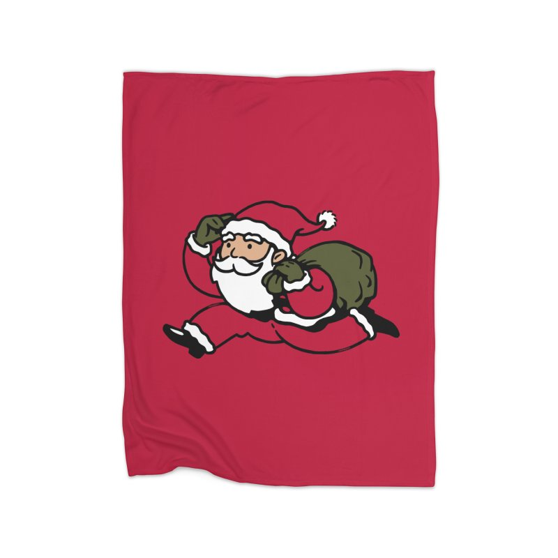 Santa Claus Monopoly Home Fleece Blanket Blanket by Vó Maria's Artist Shop
