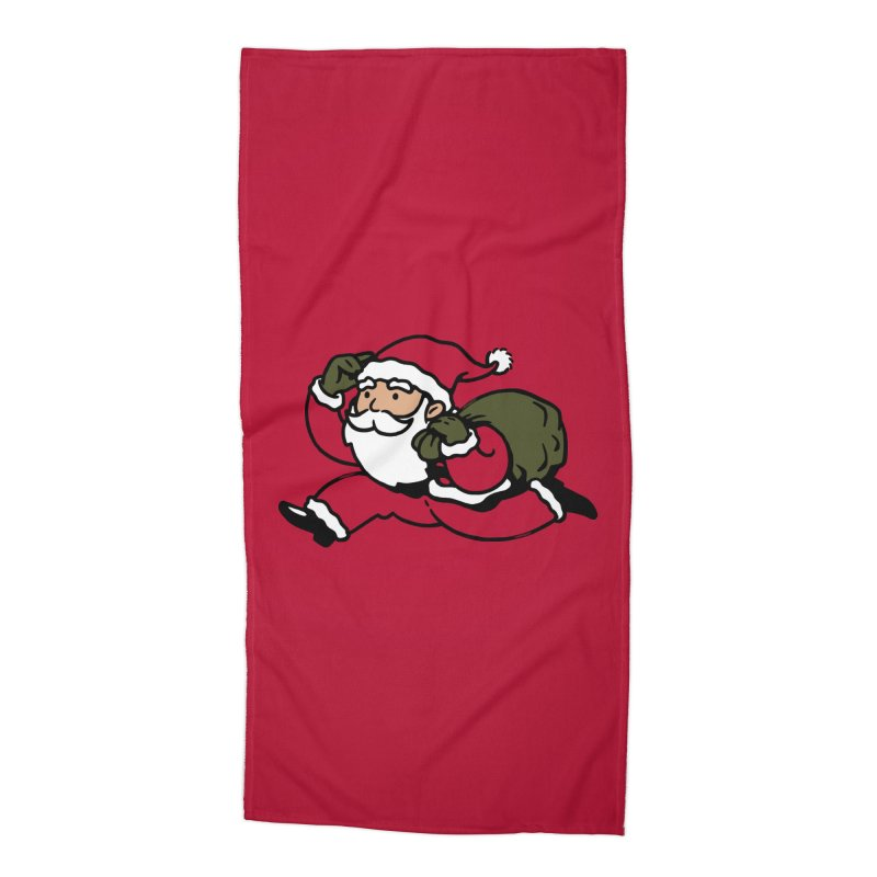 Santa Claus Monopoly Accessories Beach Towel by Vó Maria's Artist Shop
