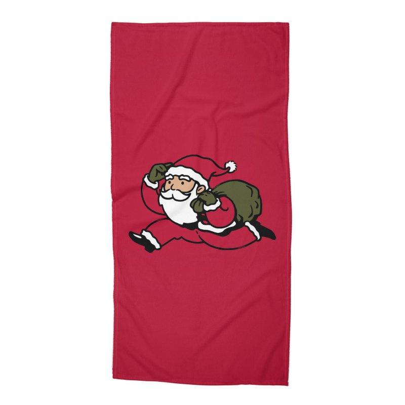 Santa Claus Monopoly Accessories Beach Towel by Vó Maria's Artist Shop
