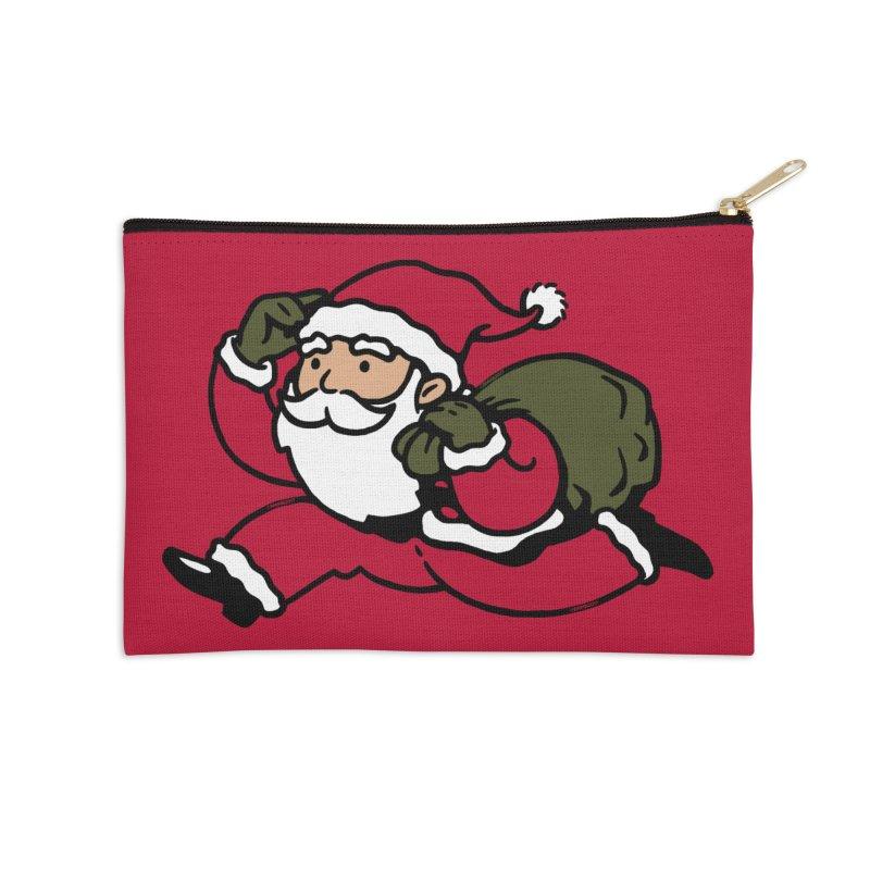 Santa Claus Monopoly Accessories Zip Pouch by Vó Maria's Artist Shop
