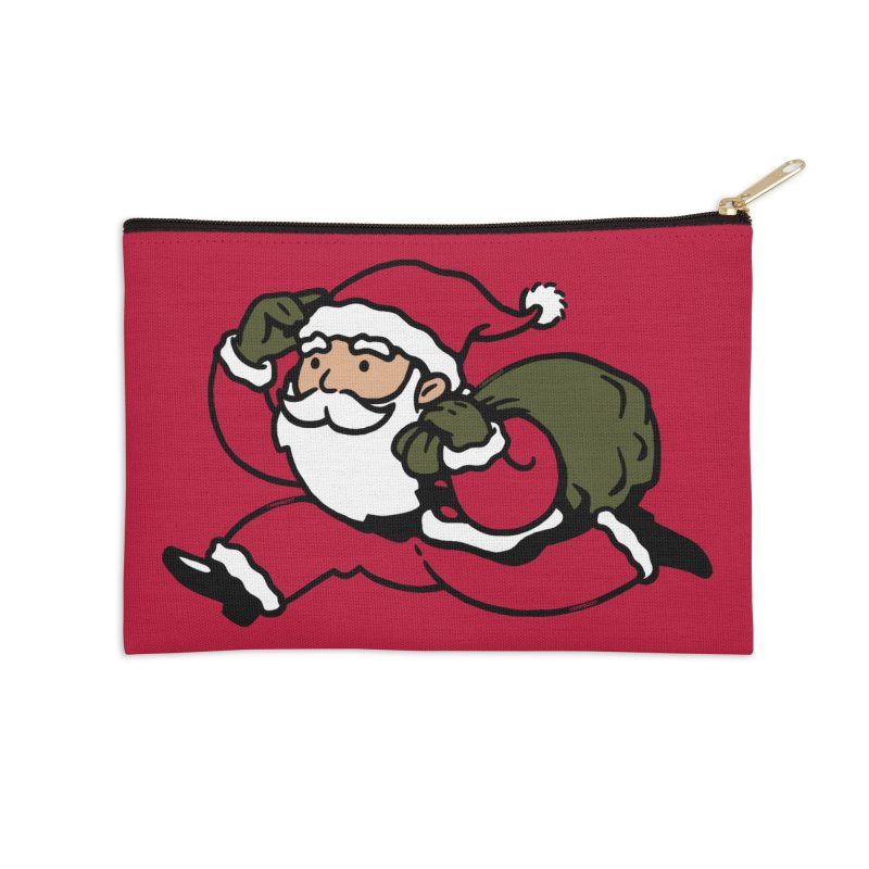 Santa Claus Monopoly Accessories Zip Pouch by Vó Maria's Artist Shop