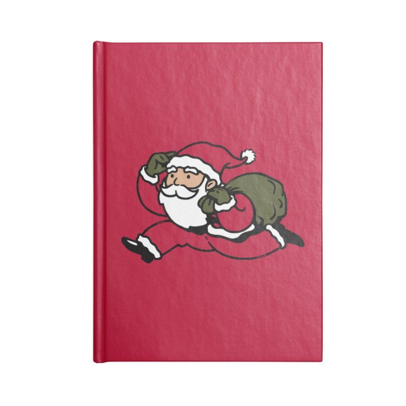 Santa Claus Monopoly Accessories Notebook by Vó Maria's Artist Shop