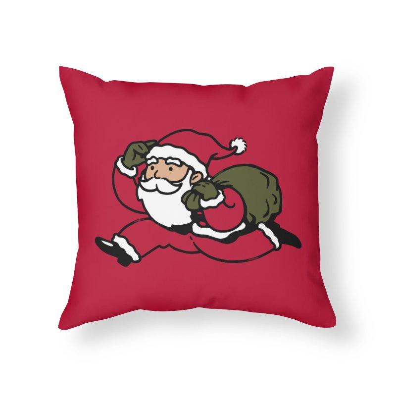 Santa Claus Monopoly Home Throw Pillow by Vó Maria's Artist Shop