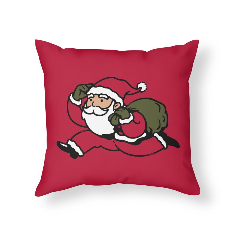 Santa Claus Monopoly Home Throw Pillow by Vó Maria's Artist Shop