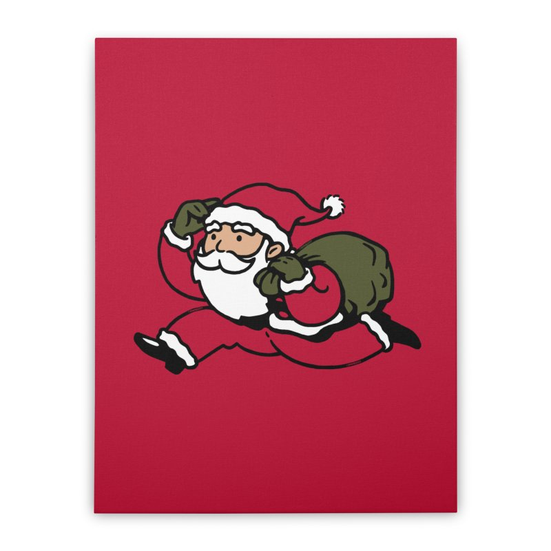 Santa Claus Monopoly Home Stretched Canvas by Vó Maria's Artist Shop
