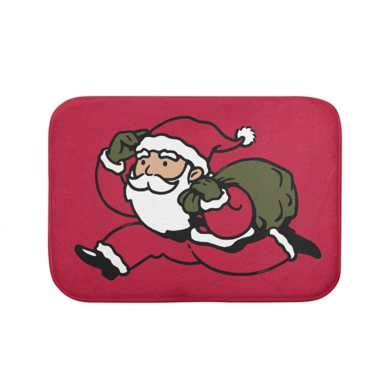 Santa Claus Monopoly Home Bath Mat by Vó Maria's Artist Shop