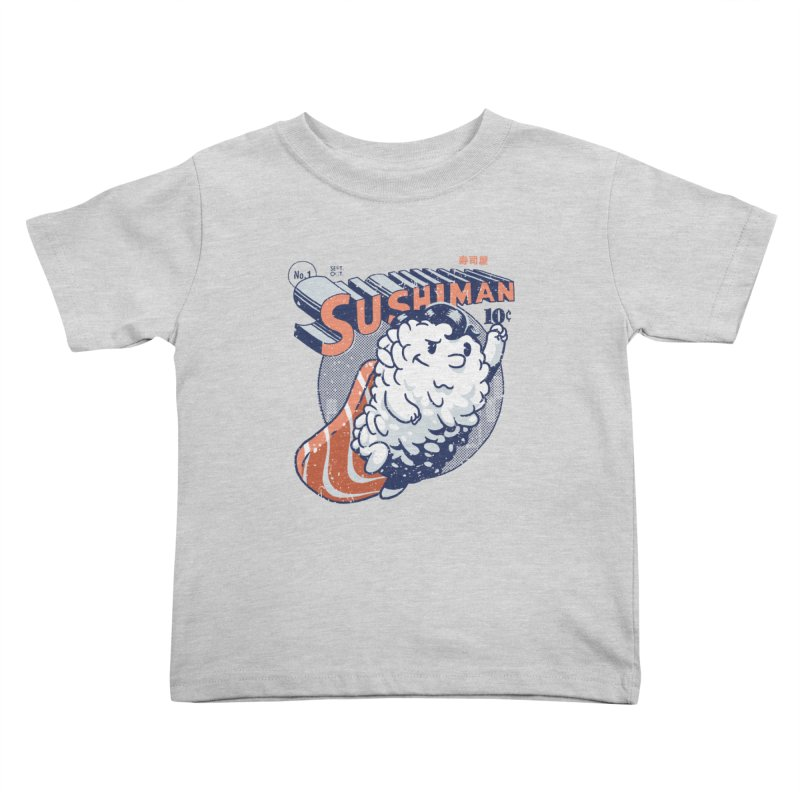 Sushiman Kids Toddler T-Shirt by Vó Maria's Artist Shop
