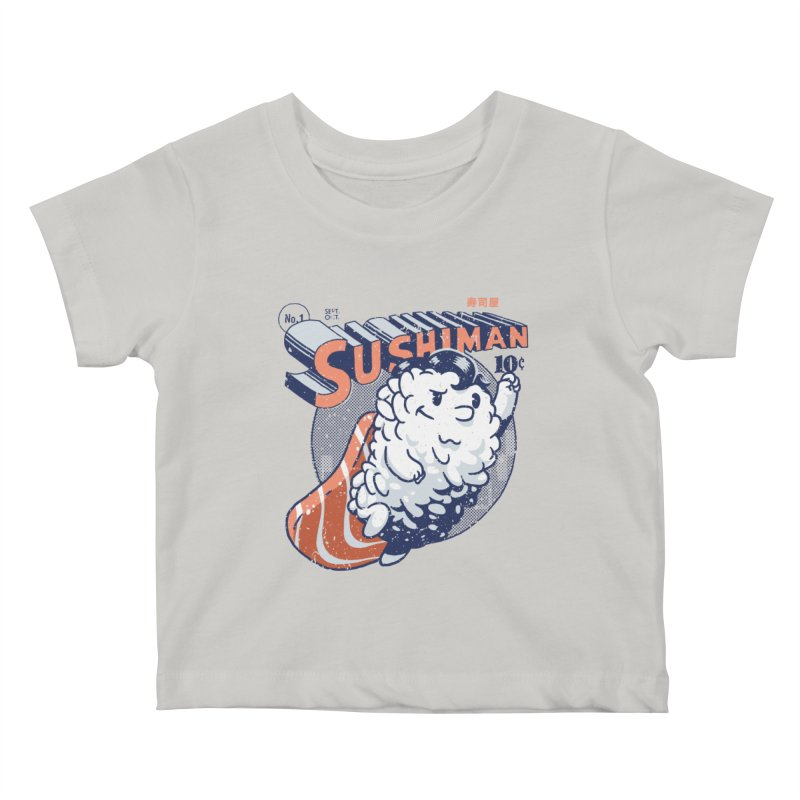 Sushiman Kids Baby T-Shirt by Vó Maria's Artist Shop