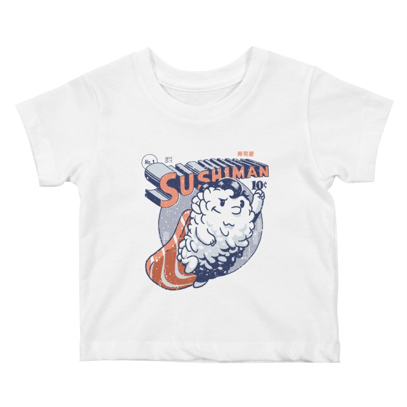 Sushiman Kids Baby T-Shirt by Vó Maria's Artist Shop