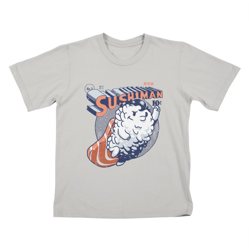 Sushiman Kids T-Shirt by Vó Maria's Artist Shop