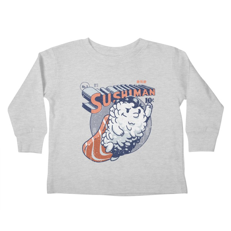 Sushiman Kids Toddler Longsleeve T-Shirt by Vó Maria's Artist Shop