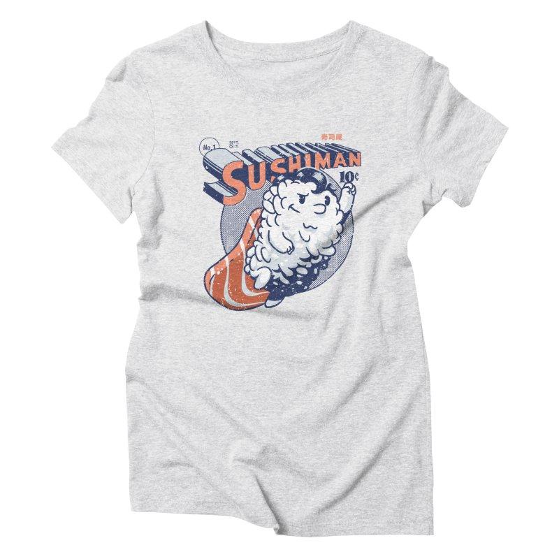 Sushiman Women's Triblend T-Shirt by Vó Maria's Artist Shop