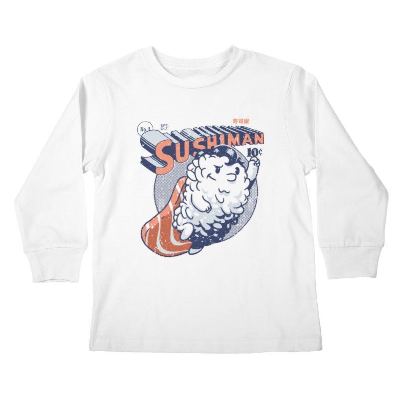 Sushiman Kids Longsleeve T-Shirt by Vó Maria's Artist Shop