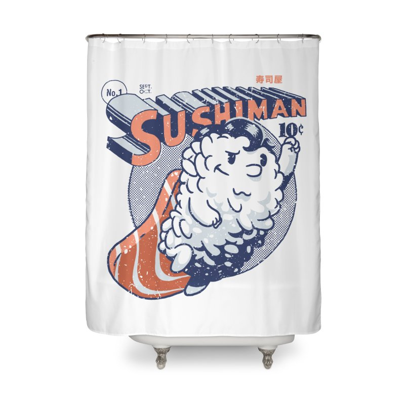 Sushiman Home Shower Curtain by Vó Maria's Artist Shop