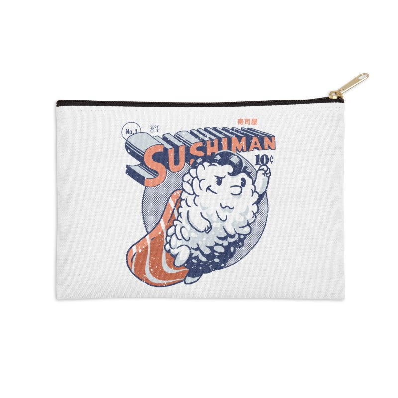 Sushiman Accessories Zip Pouch by Vó Maria's Artist Shop