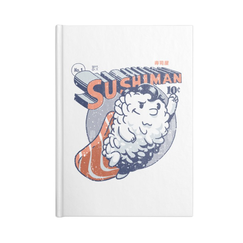 Sushiman Accessories Notebook by Vó Maria's Artist Shop