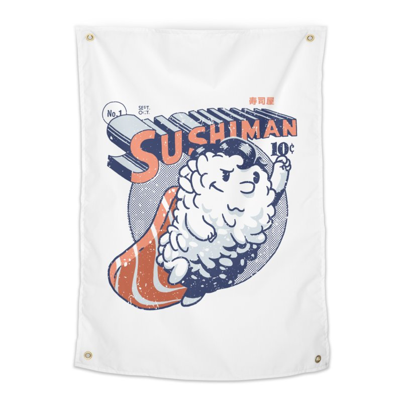 Sushiman Home Tapestry by Vó Maria's Artist Shop