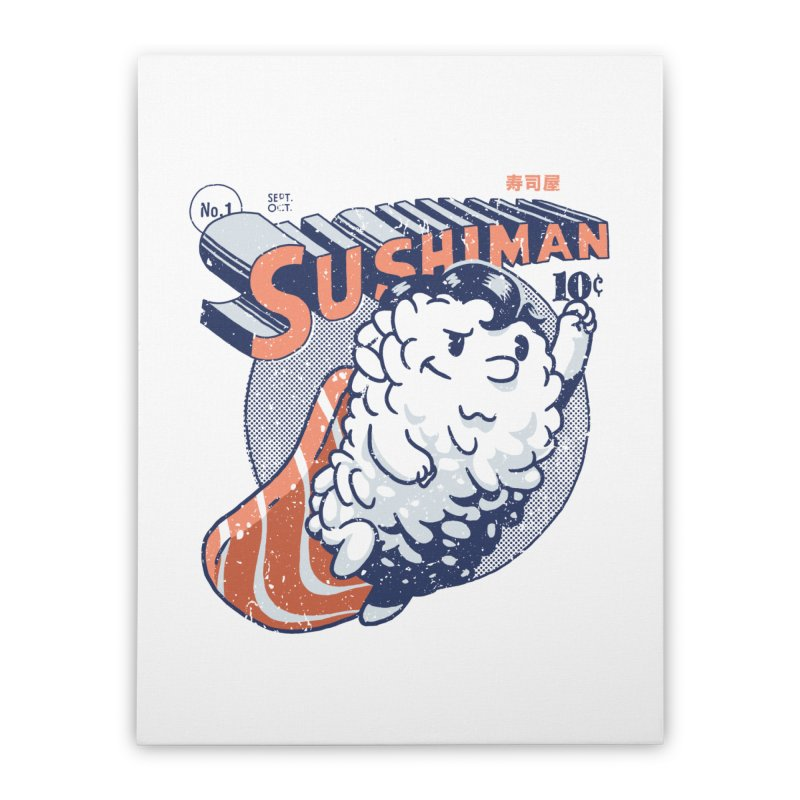 Sushiman Home Stretched Canvas by Vó Maria's Artist Shop