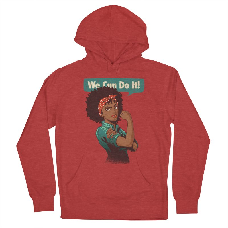 We Can Do It! Men's French Terry Pullover Hoody by Vó Maria's Artist Shop