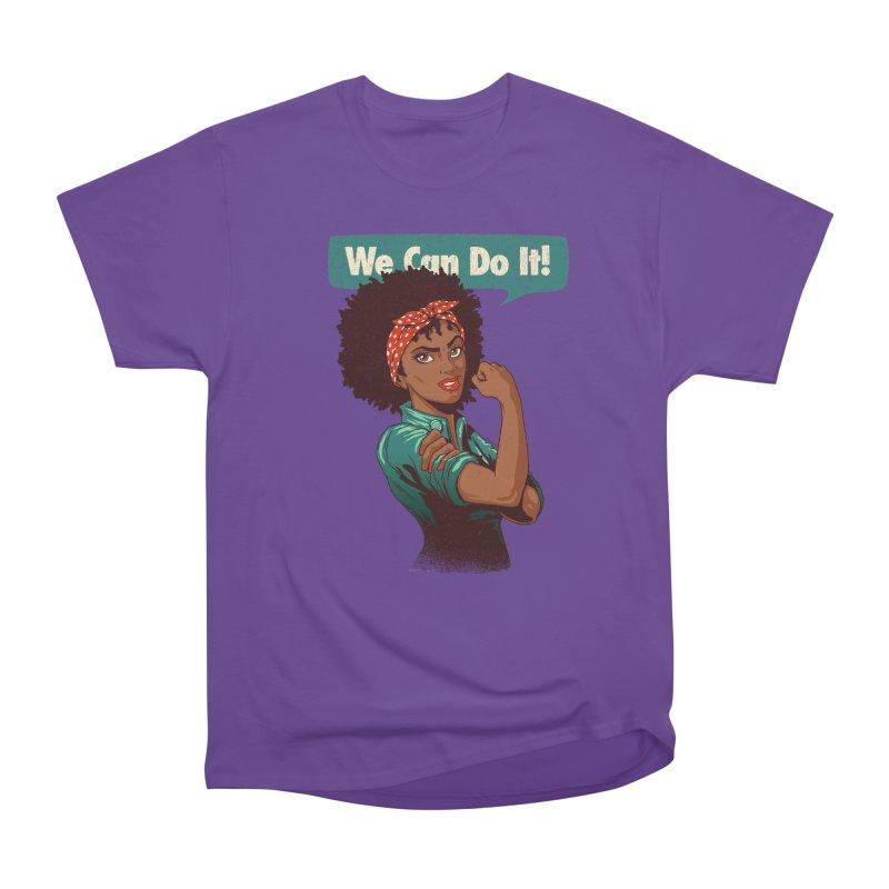 We Can Do It! Women's Heavyweight Unisex T-Shirt by Vó Maria's Artist Shop