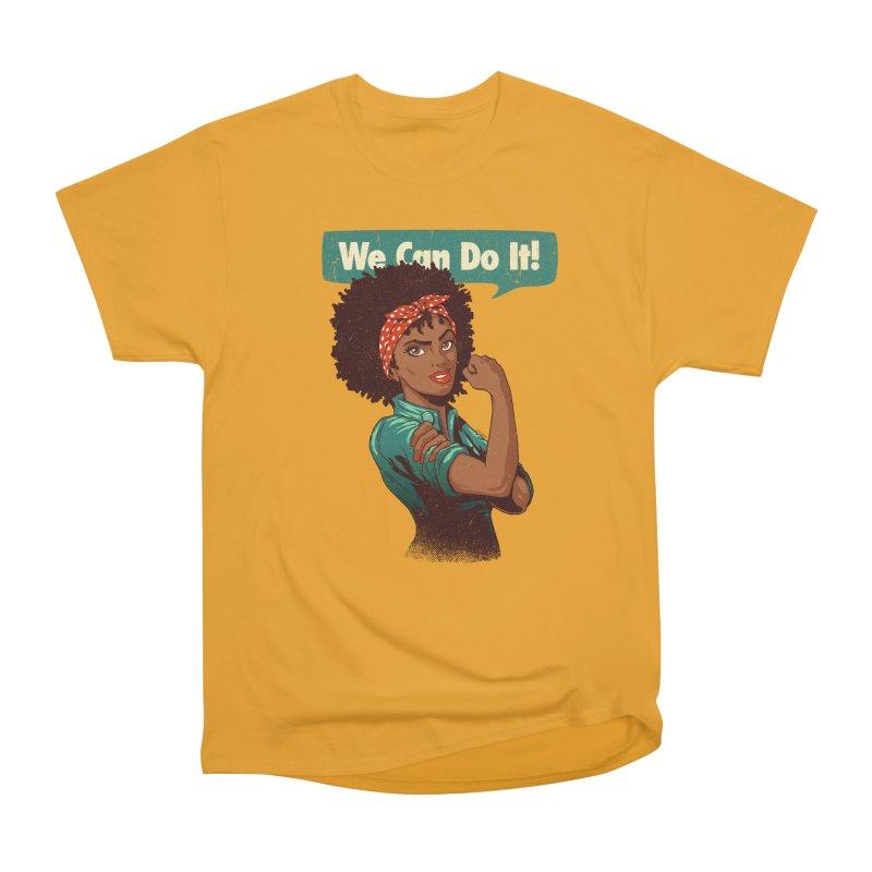 We Can Do It! Men's Heavyweight T-Shirt by Vó Maria's Artist Shop