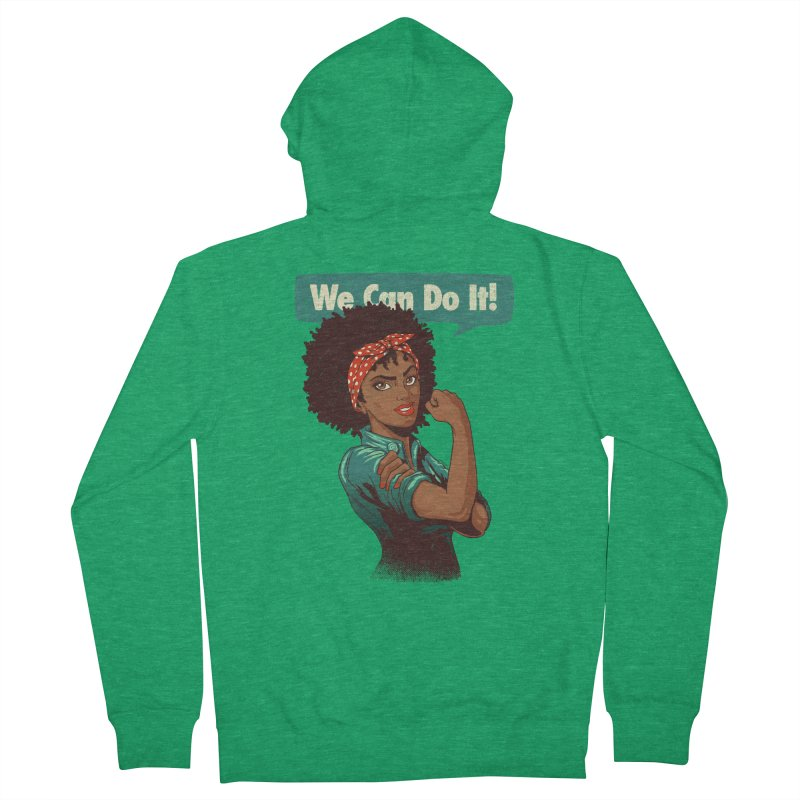 We Can Do It! Women's French Terry Zip-Up Hoody by Vó Maria's Artist Shop