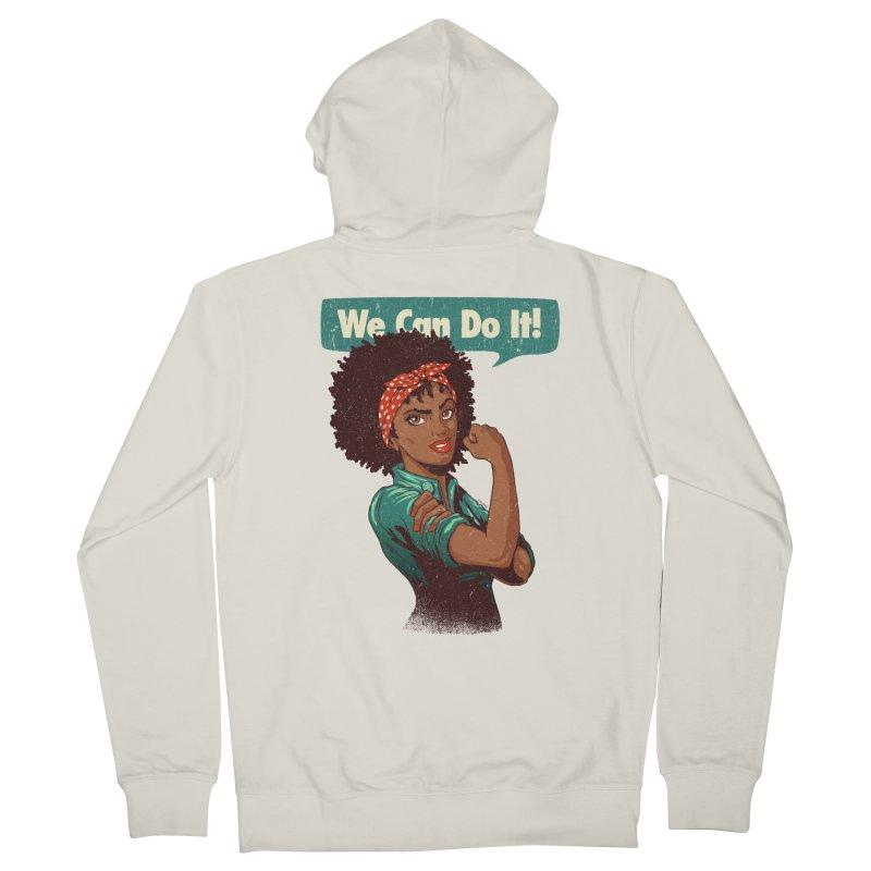 We Can Do It! Women's Zip-Up Hoody by Vó Maria's Artist Shop