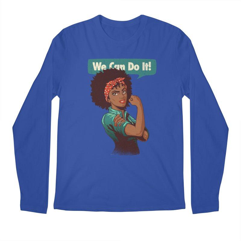 We Can Do It! Men's Regular Longsleeve T-Shirt by Vó Maria's Artist Shop