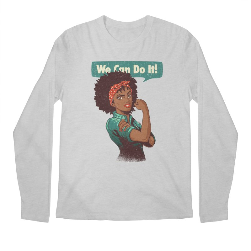We Can Do It! Men's Regular Longsleeve T-Shirt by Vó Maria's Artist Shop