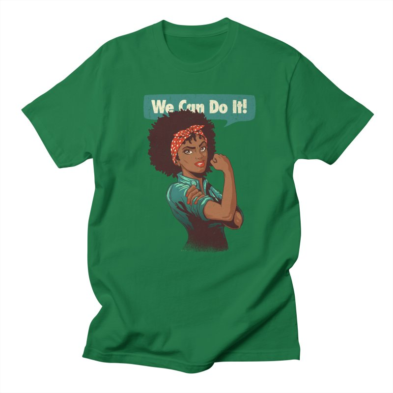 We Can Do It! Men's Regular T-Shirt by Vó Maria's Artist Shop