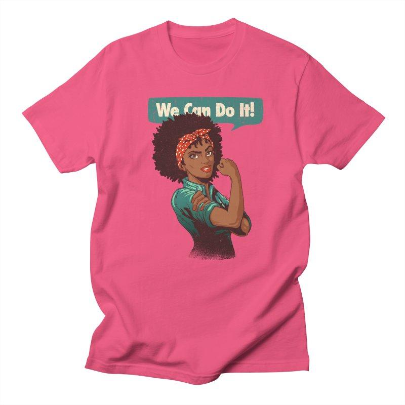 We Can Do It! Women's Regular Unisex T-Shirt by Vó Maria's Artist Shop