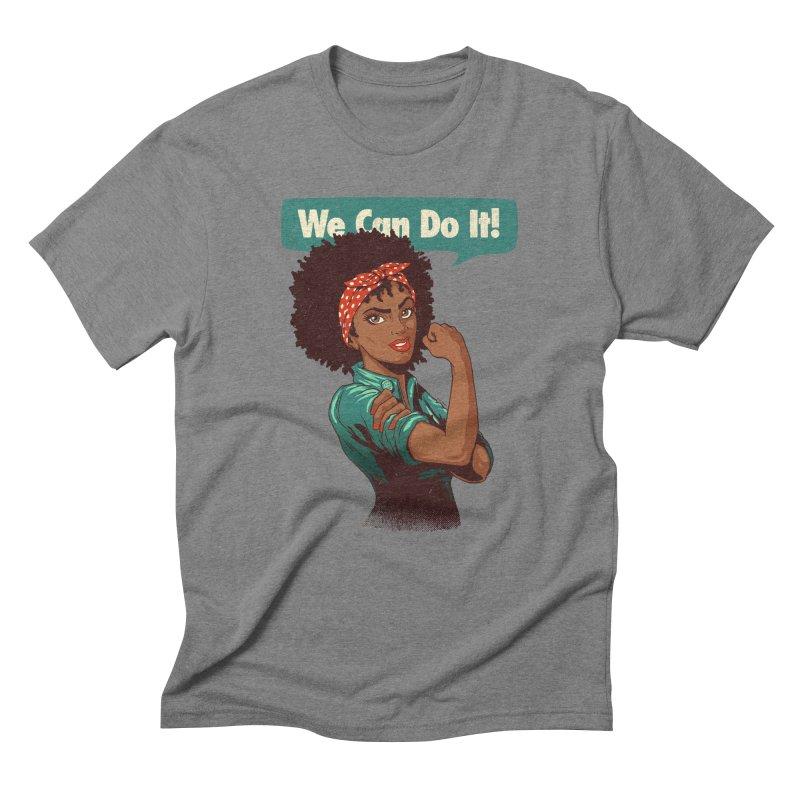 We Can Do It! Men's Triblend T-Shirt by Vó Maria's Artist Shop