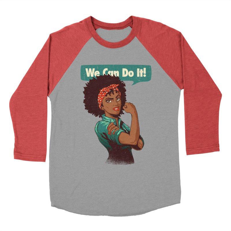 We Can Do It! Men's Baseball Triblend T-Shirt by Vó Maria's Artist Shop