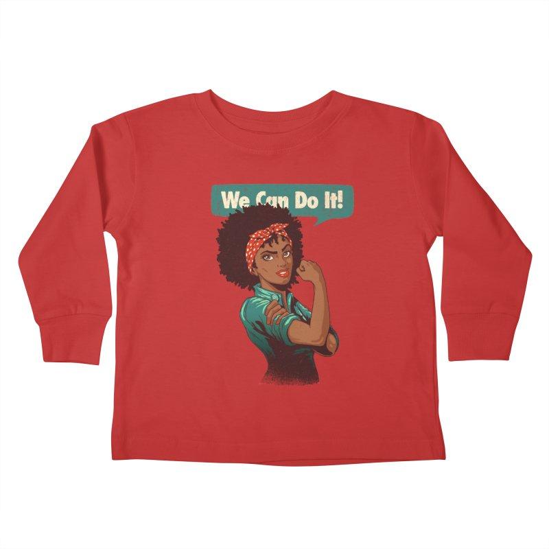 We Can Do It! Kids Toddler Longsleeve T-Shirt by Vó Maria's Artist Shop