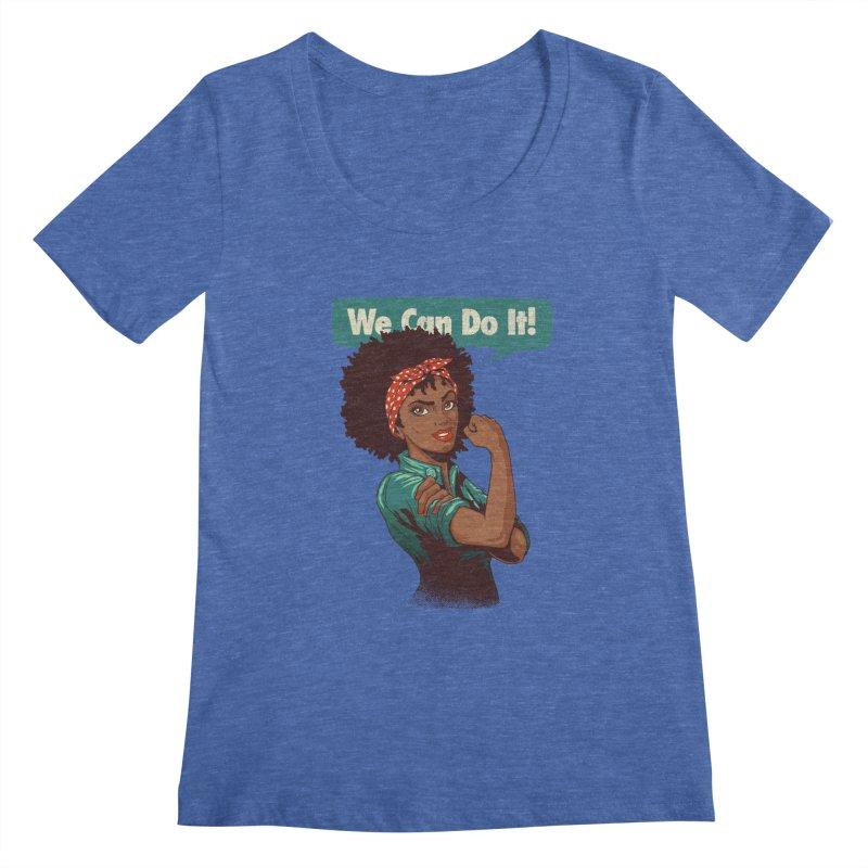 We Can Do It! Women's Regular Scoop Neck by Vó Maria's Artist Shop